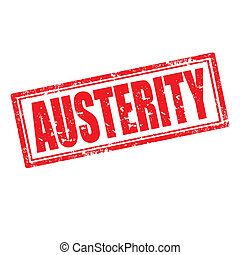 Austerity-stamp - Grunge rubber stamp with word...