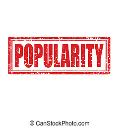 Popularity-stamp - Grunge rubber stamp with word...