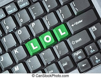 Lol key on keyboard - Green lol key on keyboard