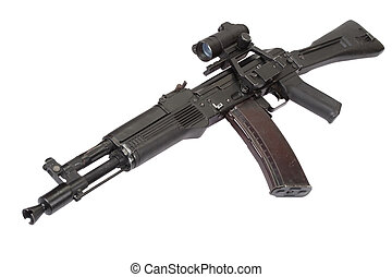 modern russian assault rifle on white