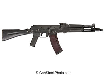 modern AK105 assault rifle on white