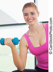 Portrait of a fit woman exercising