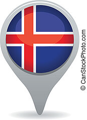 iceland flag pointer