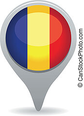 romania flag pointer