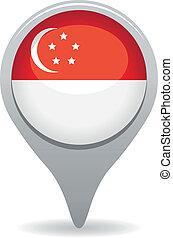 singapore flag pointer