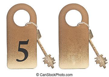 Two hotel keys