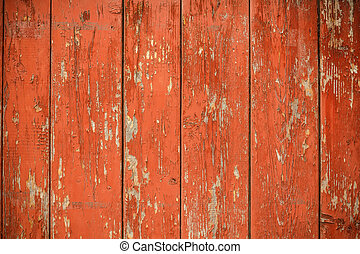 Wood fence - Old red wood fence for background