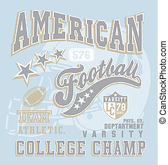 american football college champ - football sport vector for...