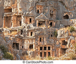 Ruins of ancient Lycia Myra in Turkey