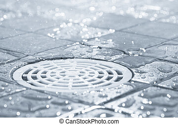 Water consumption - Floor drain, running water in shower,...
