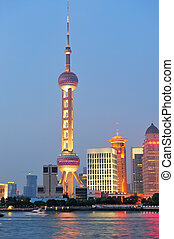 Oriental Pearl Tower - SHANGHAI, CHINA - JUNE 2: Oriental...