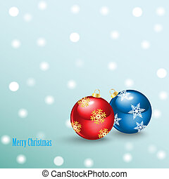 Merry Christmas Background with bal - Christmas ball from...