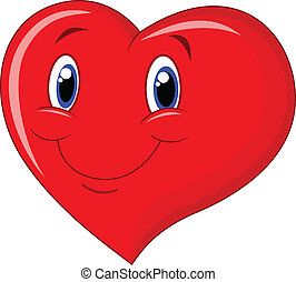 Red heart cartoon - Vector illustration of Red heart cartoon...