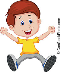 Happy boy cartoon - Vector illustration of Happy boy cartoon...