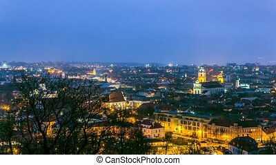 panorama of the old town of Vilnius, Lithuania