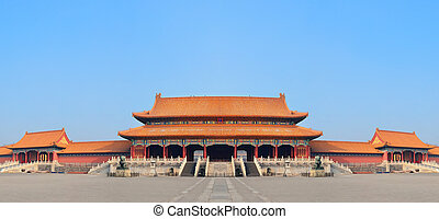 Forbidden City - Historical architecture panorama in...