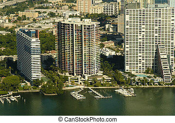 Buildings Miami Style - Aerial photography of diverse...