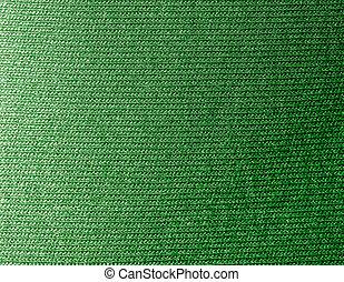 tricotado, verde, tecido, fundo