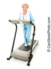 Prety Senior Stays Fit - Beautiful senoir woman staying fit...