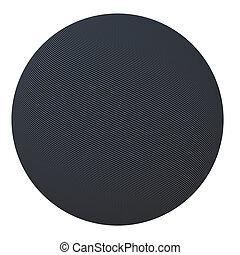 Ball of carbon fiber. Isolated render on a white background