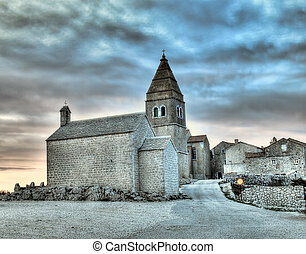 Adriatic Village - Lubenice. Croatian village on the rocky...