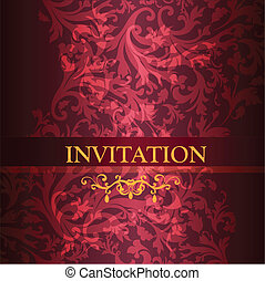 Luxury invitation card in purple co - Elegant classic...
