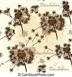 Seamless wallpaper pattern with dan - Vector seamless...