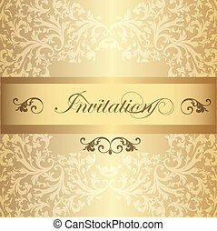 Wedding Invitation card in luxury - Elegant classic wedding...
