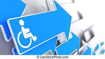 Disabled Icon on Blue Arrow. - Disabled Icon on Blue Arrow...