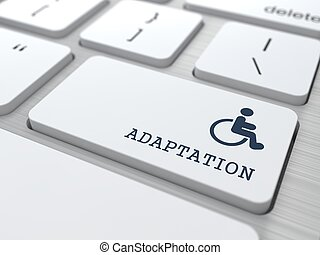 Keyboard with Adaptation for Disabled Button. - Adaptation...