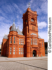 Historical train station museum in Cardiff bay (Wales) -...