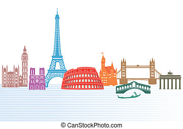 monuments of Europe