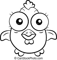 Cartoon chicken - An illustration of a funny cartoon chicken...