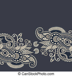 ornamental vintage floral background with decorative flowers...