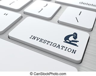 White Keyboard with Investigation Button. - Investigation...