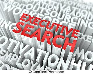 Executive Search. Wordcloud Concept. - Executive Search -...