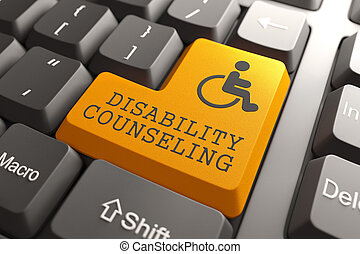 Disability Counseling on Keyboard Button.