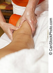 Professional therapeutic massage - Woman receiving a...