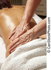 Professional massage - Woman receiving a professional...