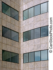 Modern office building facade pattern detail