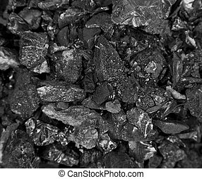 background of black tar
