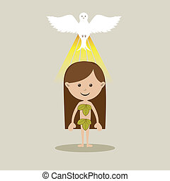 holy design over beige  background vector illustration