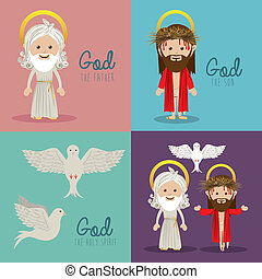 holy design over colorful  background vector illustration
