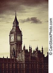 Big Ben of London as the famous landmark and icon of the...