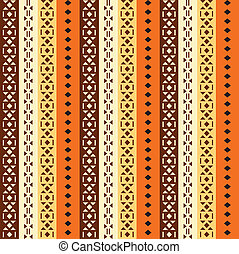 African ornament  - African ornament. Orange pattern.