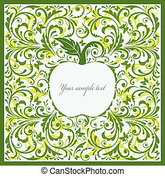 Beautiful card with apple.