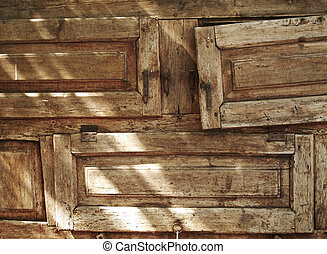 Old textured wood forniture drawers horizontal image...