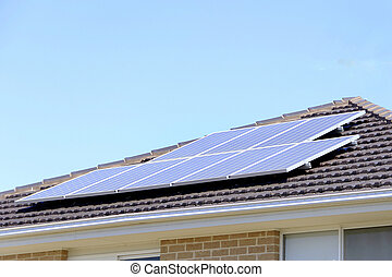 Solar Panel on Roof - Solar panel on roof that supplies...