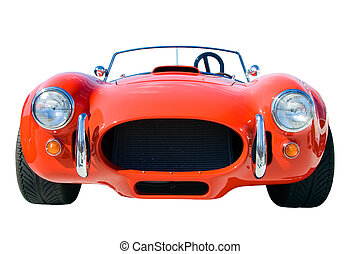 Collectible Car - Old and stylish red collectible ancient...