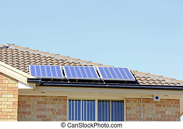Solar Power Energy - Solar panel on the roof that supply...